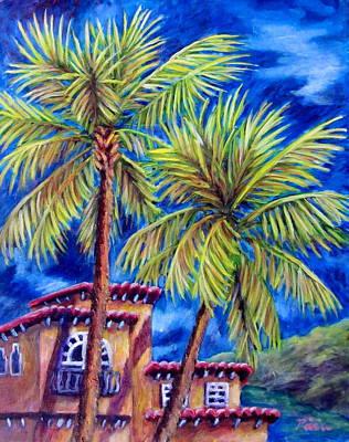 Spanish Palms Art Print