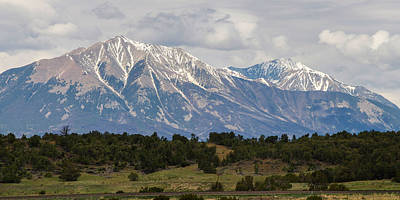 Spanish Peaks 2 Art Print by Aaron Spong