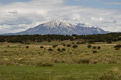 Photograph - Spanish Peaks by Aaron Spong