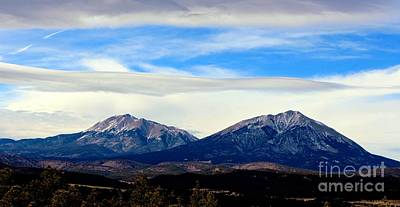 Southern Colorado Photograph - Spanish Peaks Magnificence by Barbara Chichester