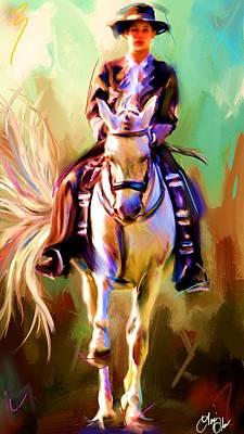 English Painting - Spanish Rider by Terri Glaser