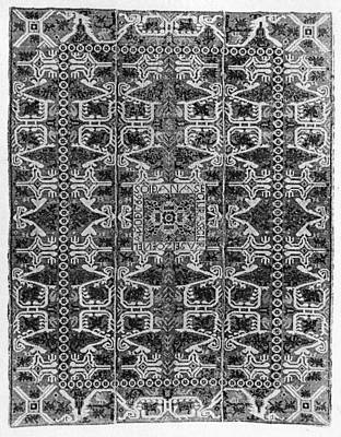 Tapestries - Textiles Painting - Spanish Rug, 1766 by Granger