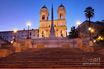 Photograph - Spanish Steps Dawn by Brian Jannsen