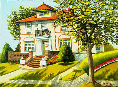 Painting - Spanish Style House by Madeline  Lovallo