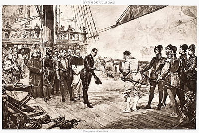 Spanish Galleons Painting - Spanish Surrender, 1588 by Granger