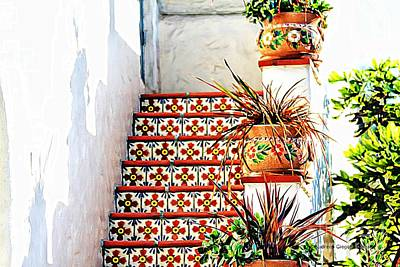 Photograph - Spanish Tiles by Audreen Gieger