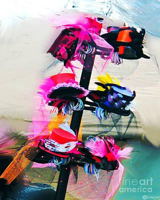 Digital Art - Spanish Town Parade Hats by Lizi Beard-Ward