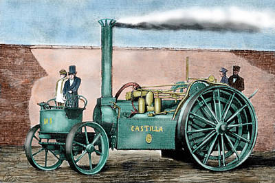 Steam Tractor Photograph - Spanish Traction Engine 'castilla' by Prisma Archivo