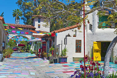 Photograph - Spanish Village Art Center Balboa Park San Diego Ca by David Zanzinger