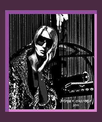 Digital Art - Spank Me Purple by Joseph Coulombe