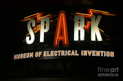 Photograph - Spark Museum Sign Bellingham by John  Mitchell