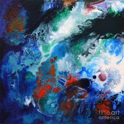 Painting - Spark Of Life Canvas One by Sally Trace