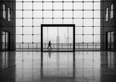 Grids Photograph - Sparkasse by Alexander Sch?nberg