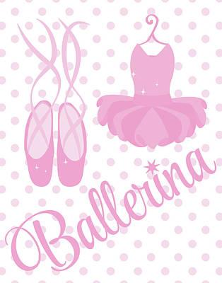 Pink Ballerina Painting - Sparkle Ballerina I by Tamara Robinson