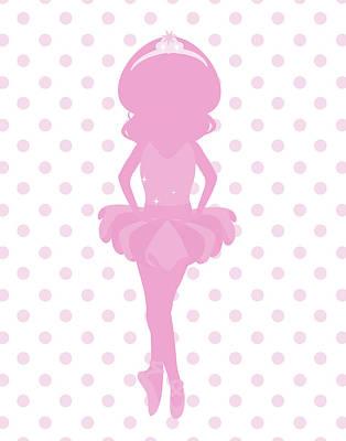 Pink Ballerina Painting - Sparkle Ballerina II by Tamara Robinson