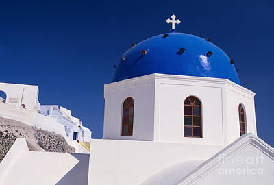 Deep Blue Photograph - Sparkle Of Blue Dome by Aiolos Greek Collections