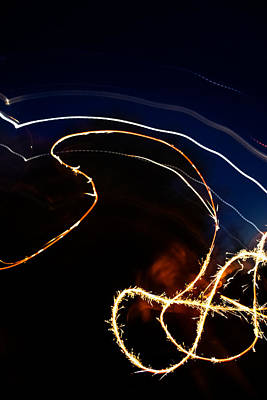 Photograph - Sparkler by Joel Loftus