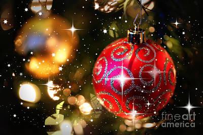 Photograph - Sparkling Christmas Balls by Carol Groenen