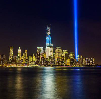 Sparkling Freedom Tower Art Print by Chris Halford