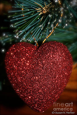 Photograph - Sparkling Heart by Susan Herber