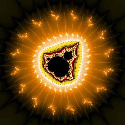 Kitchen Mark Rogan - Sparkling orange fractal art full of energy by Matthias Hauser