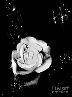 Sparkling Rose Art Print by Gayle Price Thomas