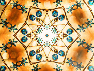 Hexagram Photograph - Sparkling Symbolism by Shawna Rowe