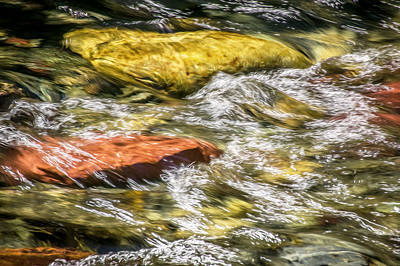 Photograph - Sparkling Waters Glacier National Park  Painted by Rich Franco