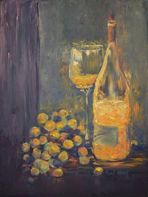 Sparkling Wine Art Print by Toni Wolf