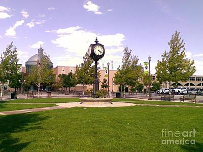 Art Print featuring the photograph Sparks Community Clock by Bobbee Rickard