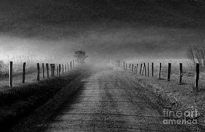 Sparks Lane In Black And White Art Print by Douglas Stucky