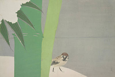 Sparrow And Bamboo., Kamisaka, Sekka, Artist Art Print