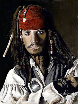 Captain Jack Sparrow Painting - Sparrow by Karl Dardis