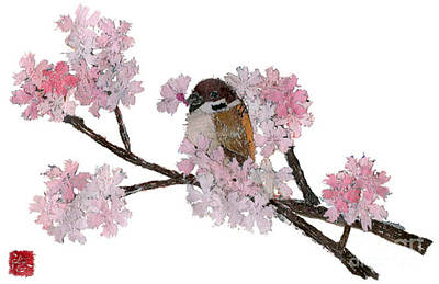 Painting - Sparrow Art  by Keiko Suzuki