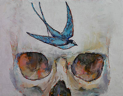 Lowbrow Painting - Sparrow by Michael Creese