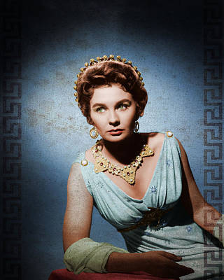 Spartacus Digital Art - Spartacus 1960 - Jean Simmons by Rouhani Cyrus
