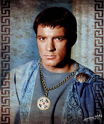 Spartacus Digital Art - Spartacus 1960 - John Gavin by Rouhani Cyrus