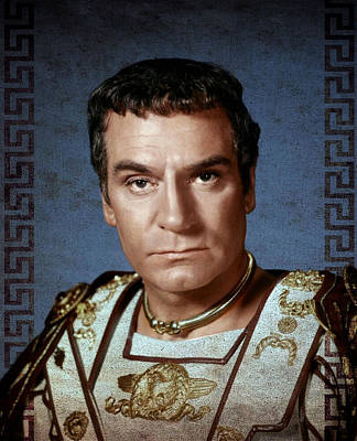 Spartacus Digital Art - Spartacus 1960 - Laurence Olivier by Rouhani Cyrus