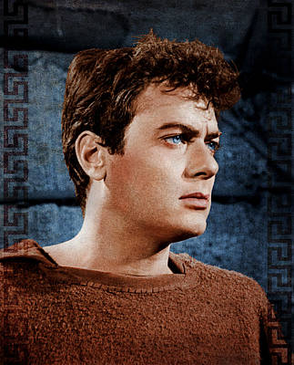Spartacus Digital Art - Spartacus 1960 - Tony Curtis by Rouhani Cyrus