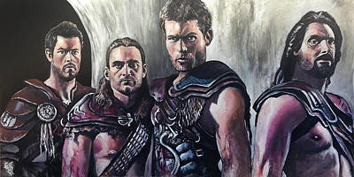 Gladiator Painting - Spartacus by Tom Carlton