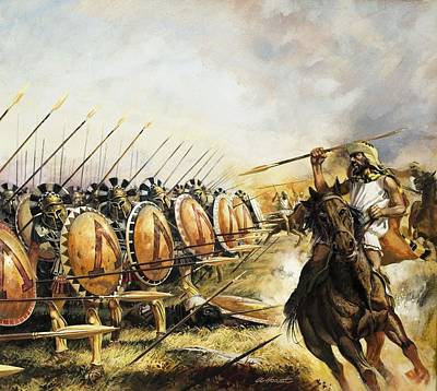 Spartan Army Art Print by Andrew Howat