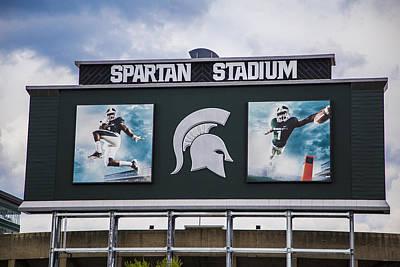 Michigan State Photograph - Spartan Stadium Scoreboard  by John McGraw