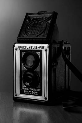 Photograph - Spartus Vintage Camera In Black And White by Rebecca Brittain