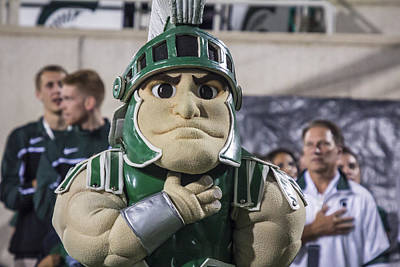 Photograph - Sparty And Izzo Together by John McGraw