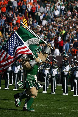 Universities Photograph - Sparty At Football Game by John McGraw