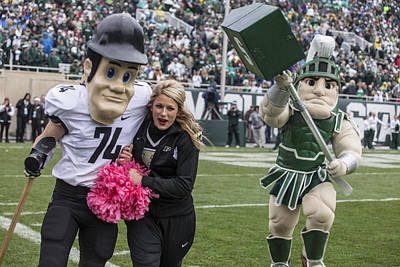 Photograph - Sparty Chasing Purdue Pete  by John McGraw