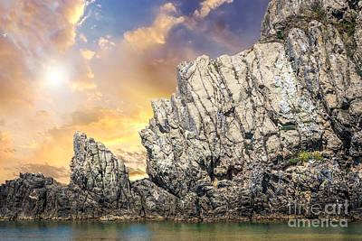 Rocks In The Water Art Print by Ezeepics
