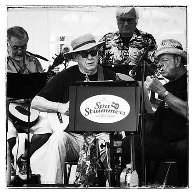 Warwickshire Photograph - #spastrummers #band #ukulele #stummers by Pamela Harridine