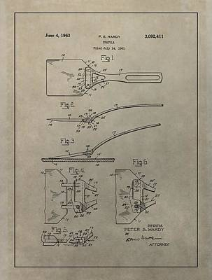 Spatula Patent Illustration Print by Dan Sproul