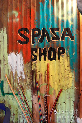 Photograph - Spaza Shop Sign by James Eddy